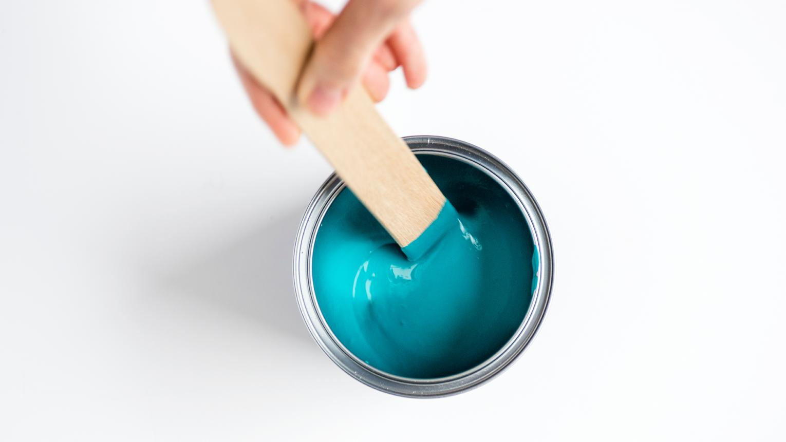 Leftover paint is an opportunity to get creative with other elements in your home