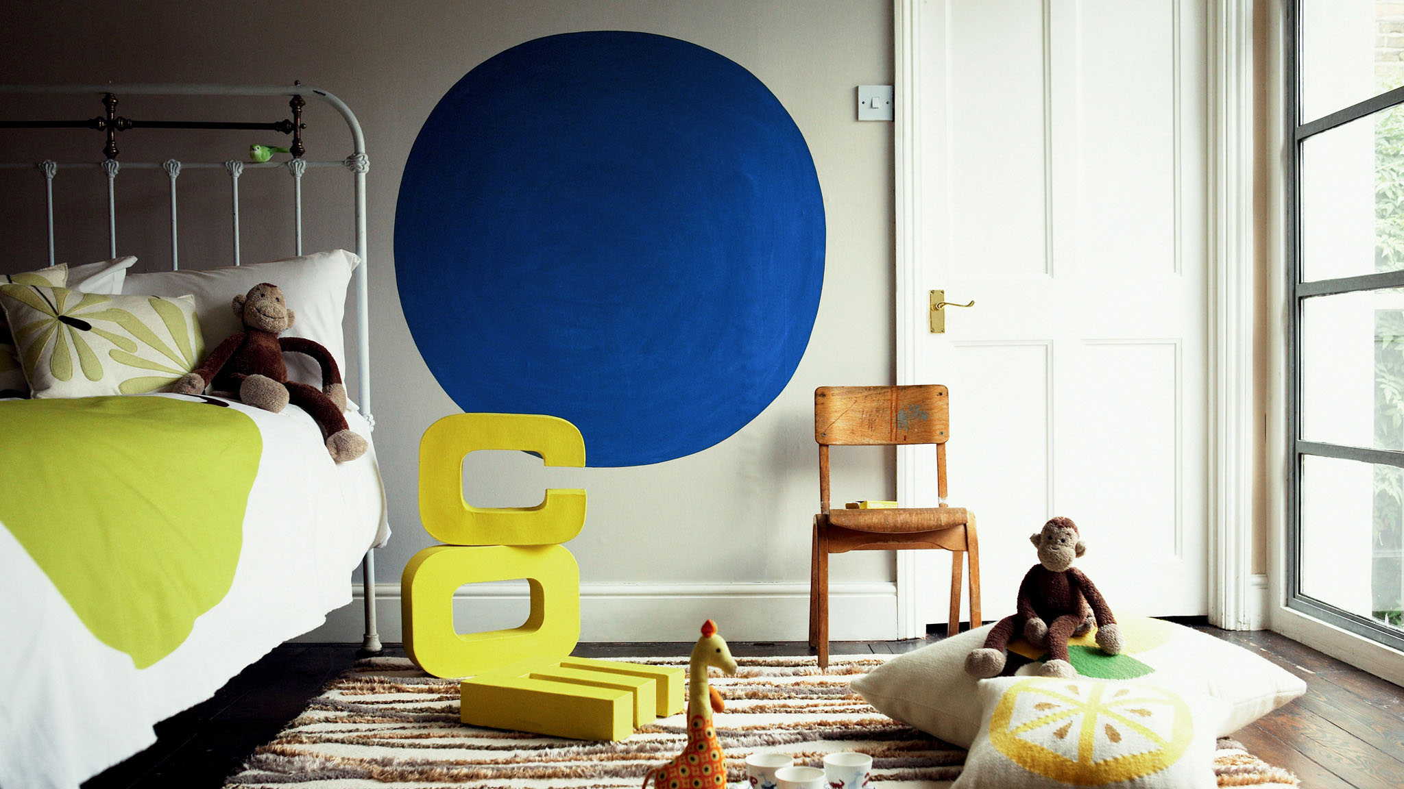 Make a statement with a feature circle in your child's bedroom