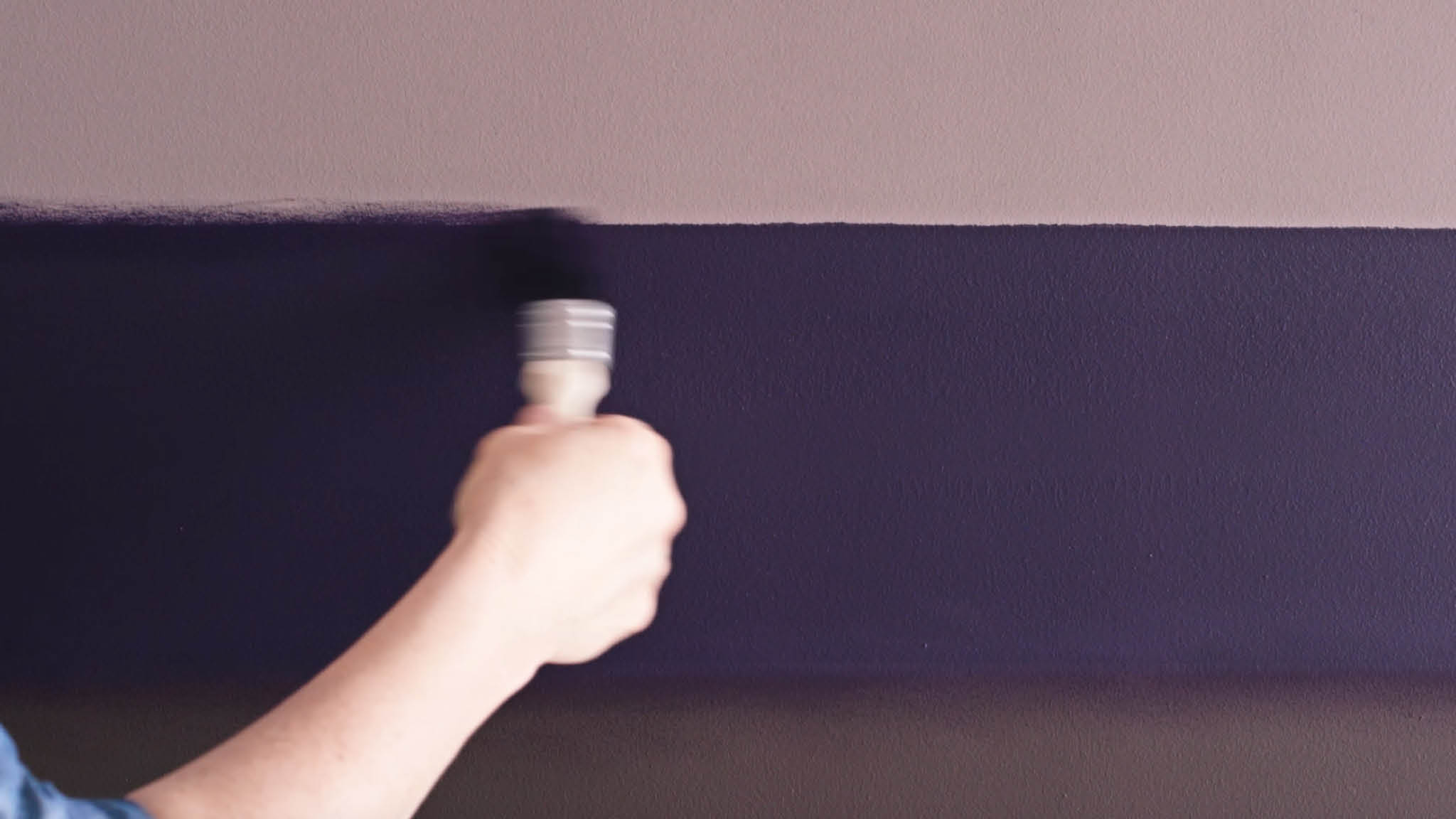 Use a dry paintbrush to create your blurred line