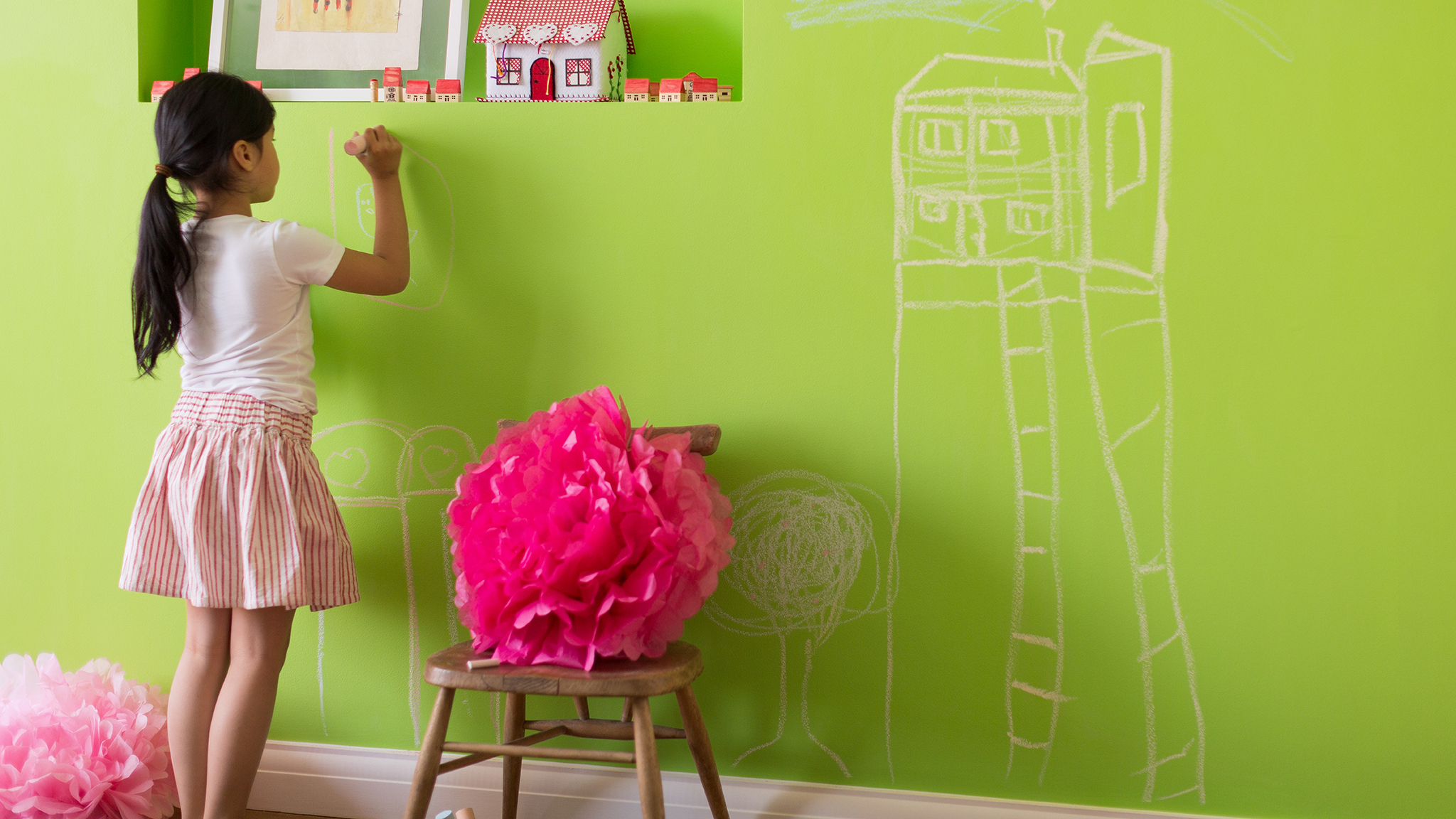 Easy clean paint for children's rooms