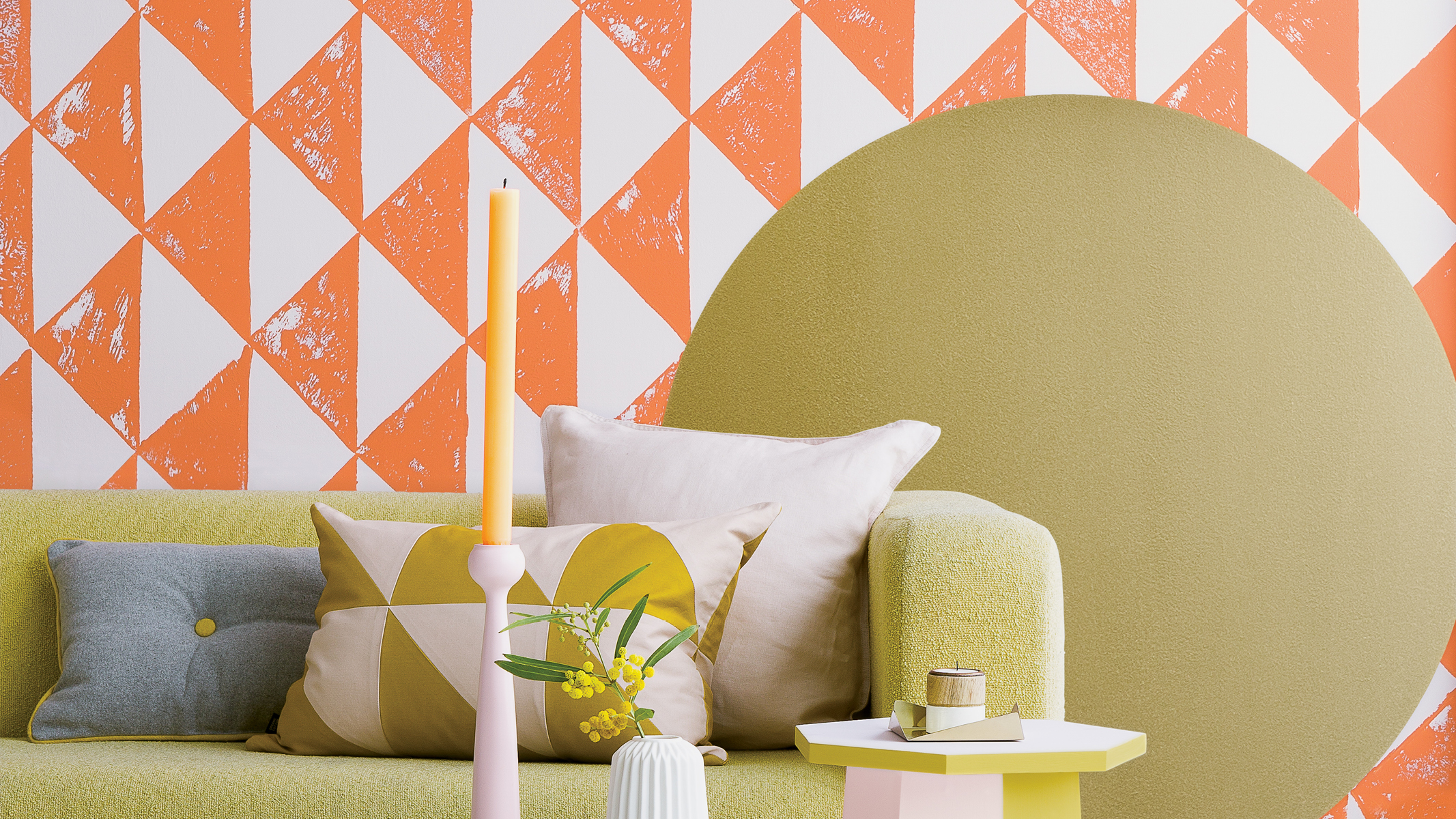 These graphic diamonds enhance the sense of order – albeit playful - in this living room, although it's a decorating ideas that's not for the faint-hearted!