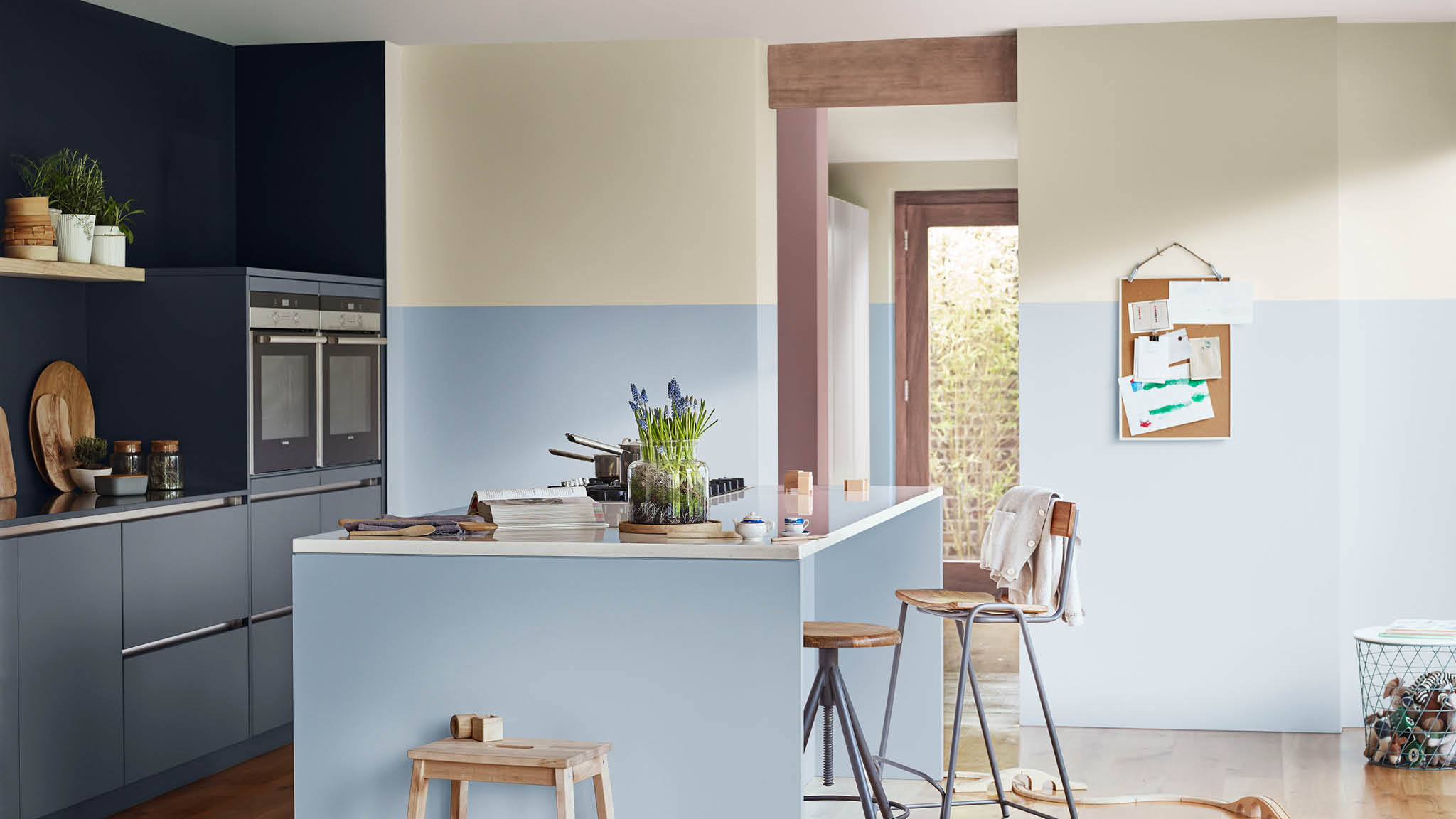 Paint your kitchen with Heart Wood and pastel shades
