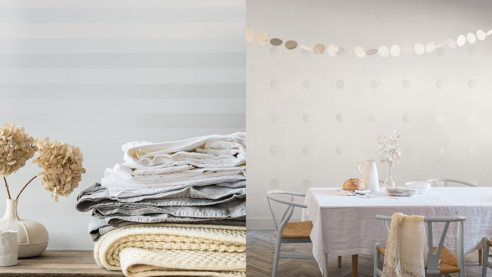 Neutral base colours draw out and define the objects in your room.