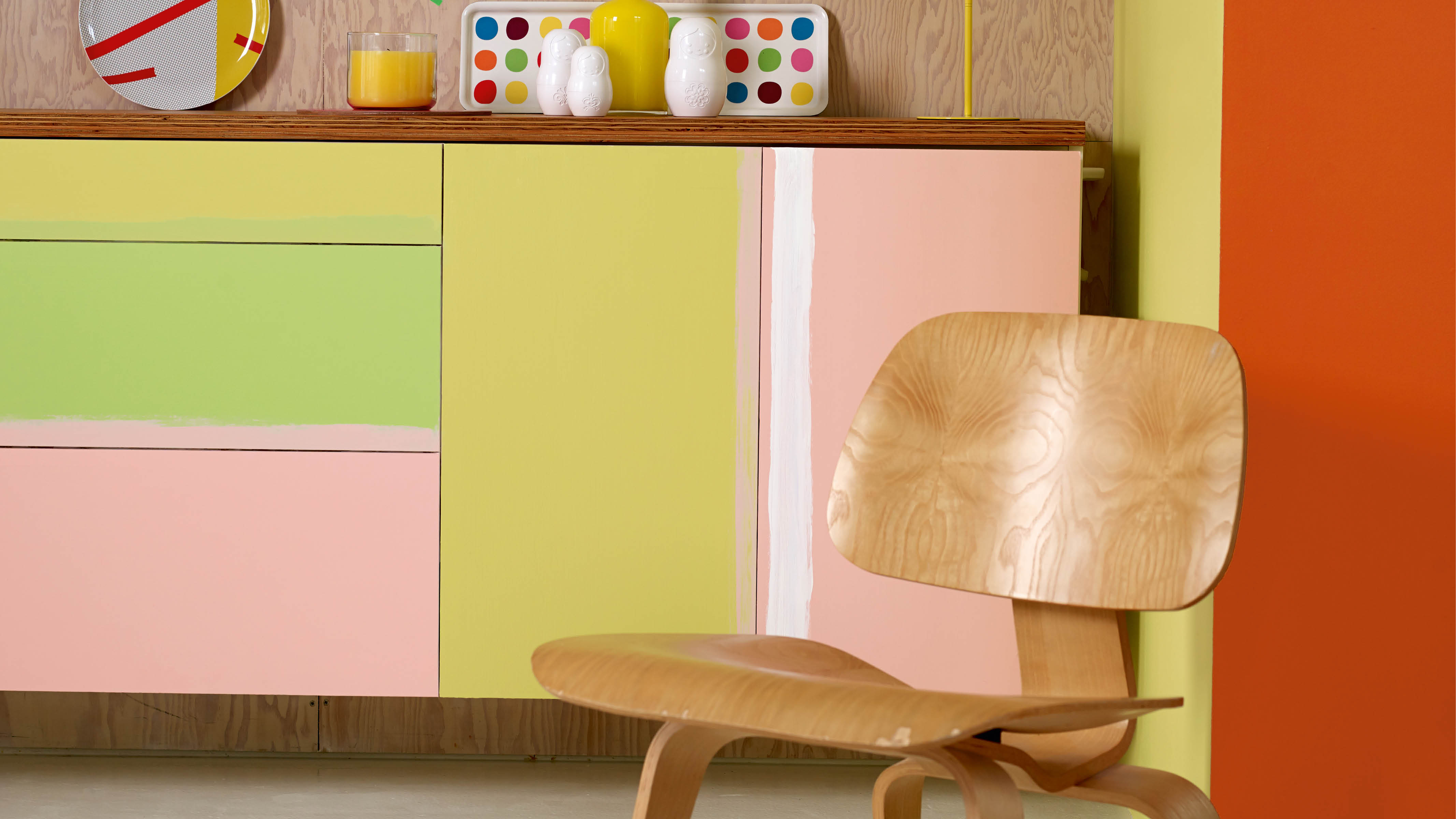 Leftover paint can be used to customise your furniture.