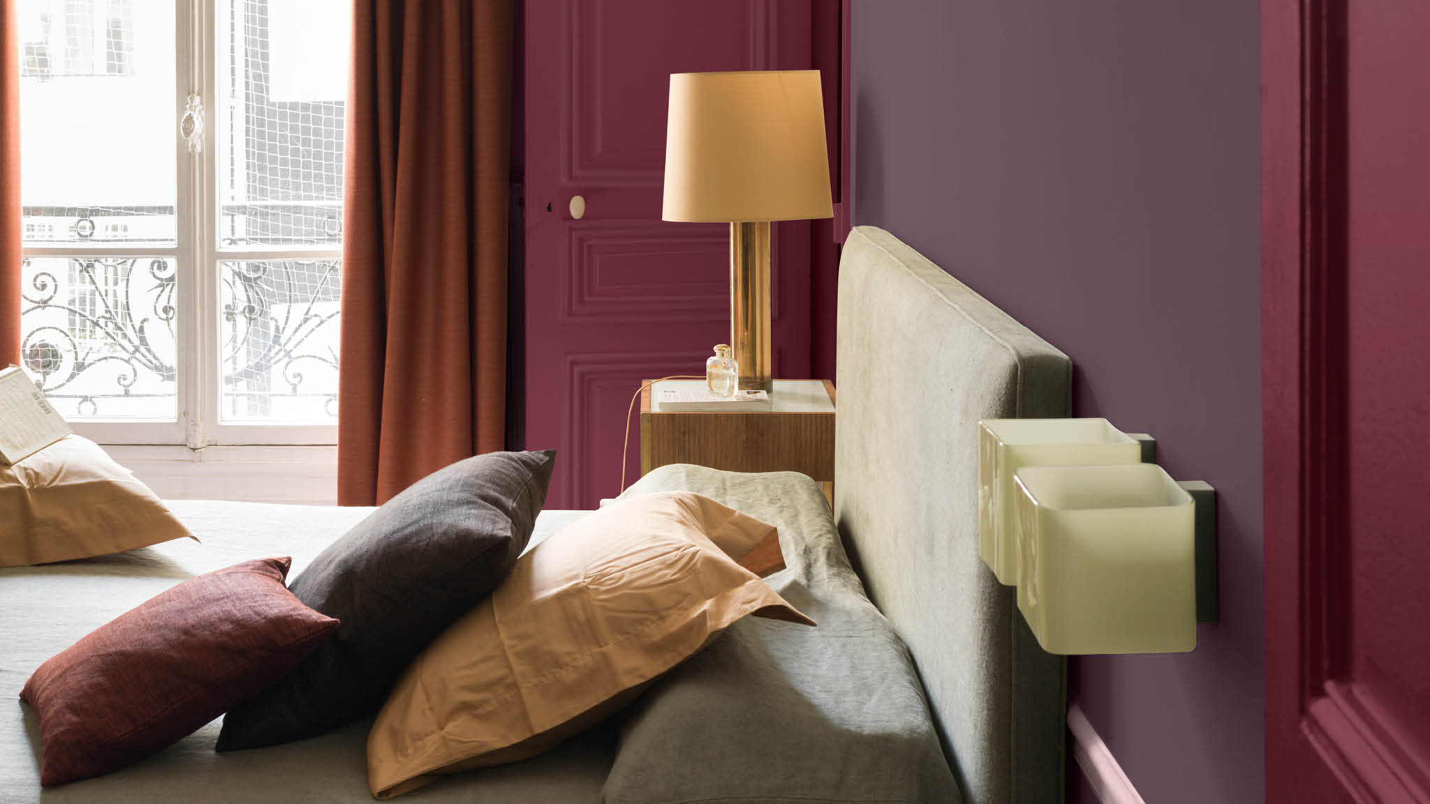 Emulate the luxury of a boutique-style hotel with a palette of rich purples. Sumptuous and brooding, purple can be difficult to handle, but with the right combination of complementary colours it can feel incredibly cosy.