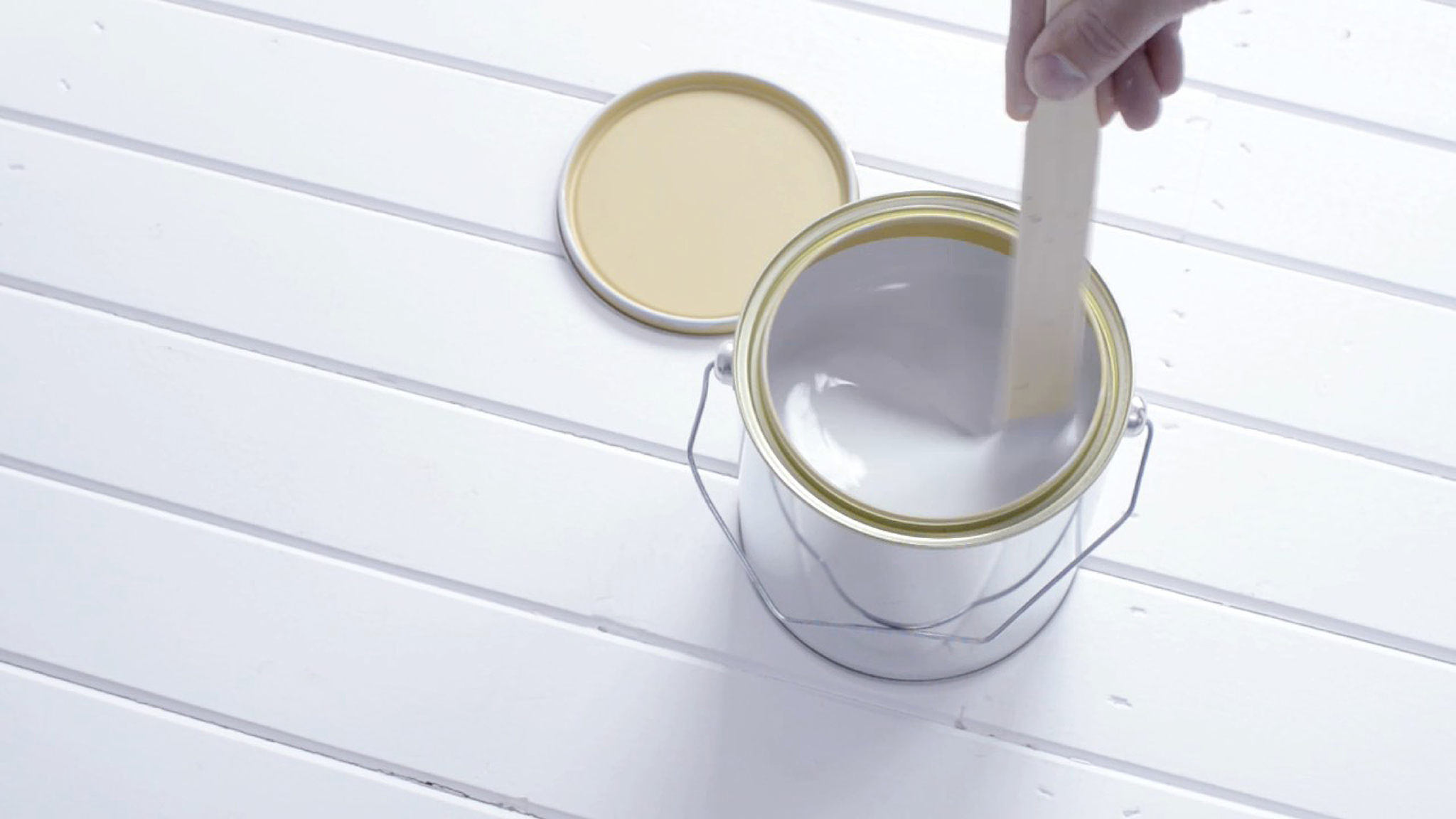 Mixing your paint before applying it will ensure a consistent colour and finish.
