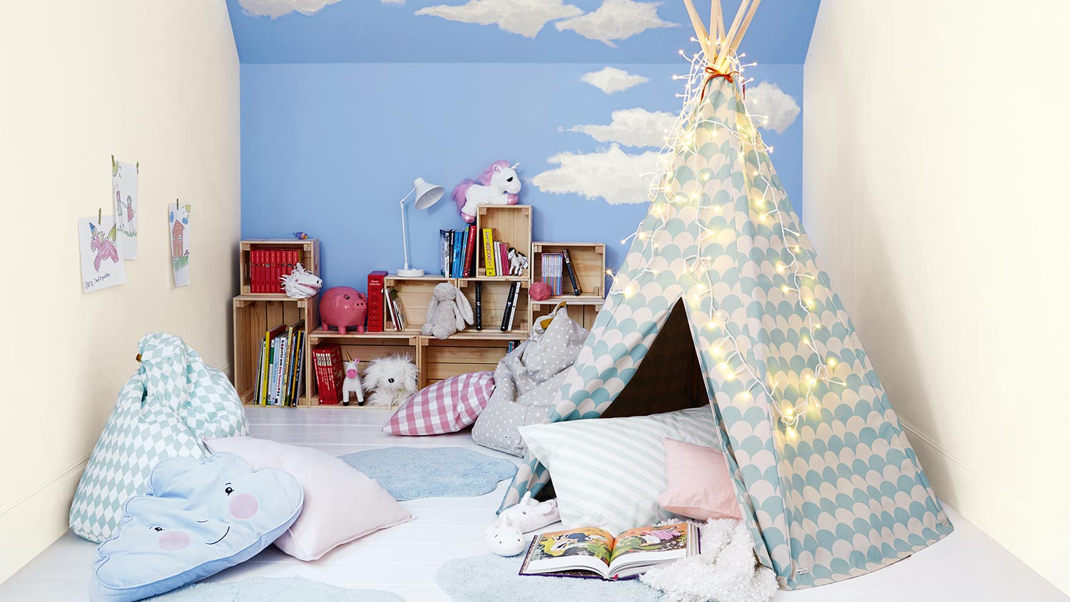 Storybook themed bedroom